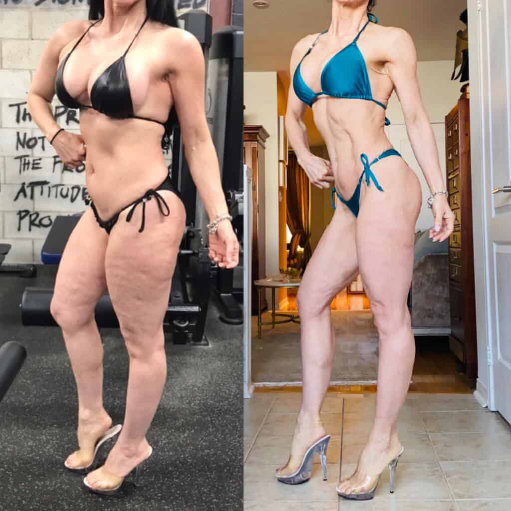 stubborn fat behind legs
